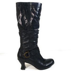 Miz Mooz Women Leather Zip Up Heels Boots Sz 11 M